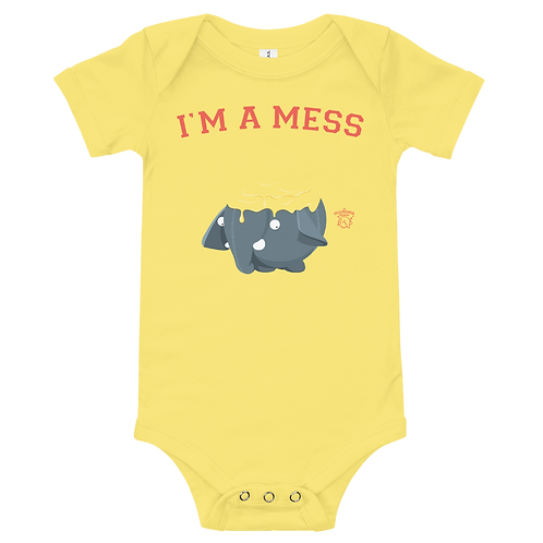 I am a Mess Baby One Piece