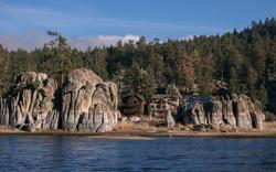 Houses lake