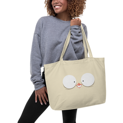 Smile Olli Large organic tote bag