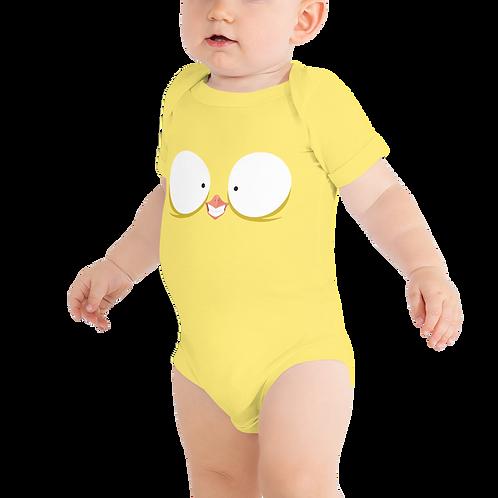 Happy Bird Yellow Baby One Piece