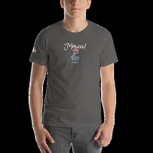 'Merica asphalt Short-Sleeve Unisex T-Shirt