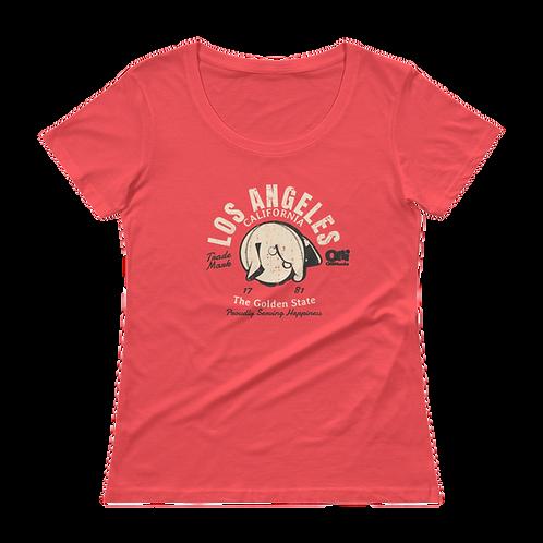Los Angeles Retro Ladies' Scoopneck T-Shirt