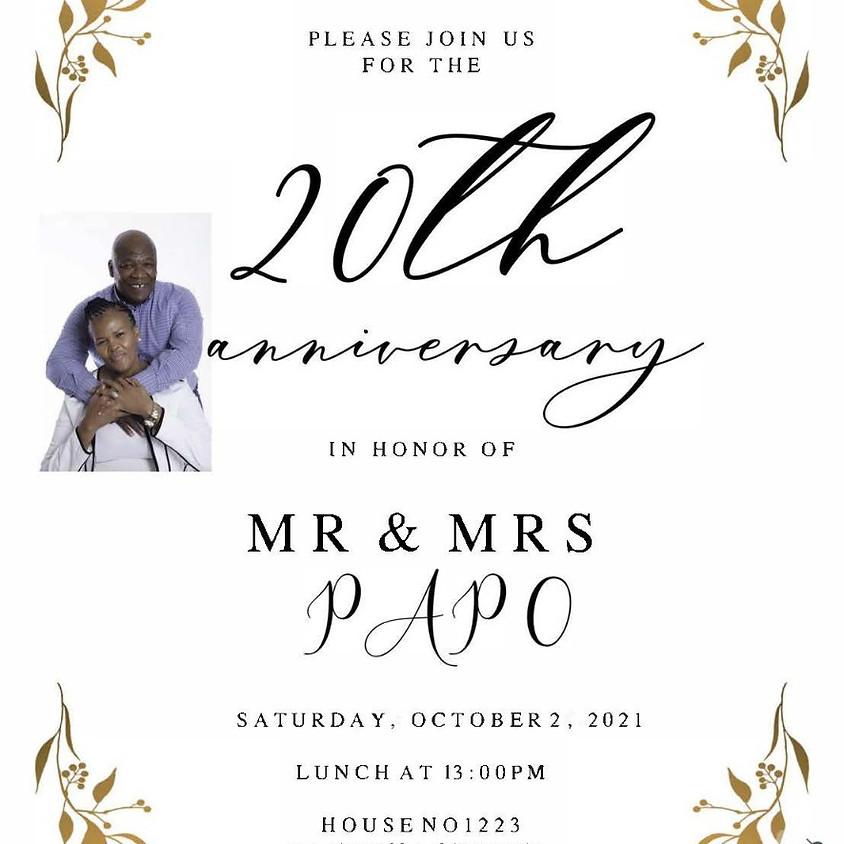 Wedding Anniversary Of Mr & Mrs Papo