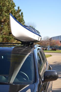 Installed Kayak Wing kayak carrier