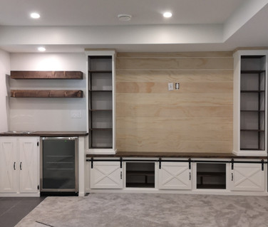 Built in Cabinets and bar