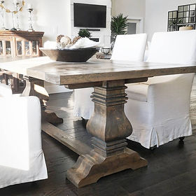 Custom contemporary and farmhouse dining tables. The Plane and Nail Co.