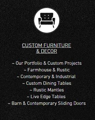 Custom Furniture & Decor