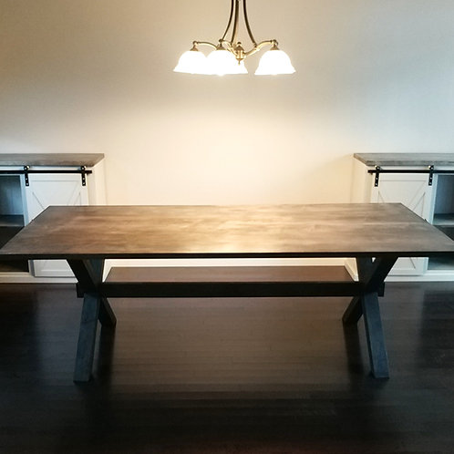 The Capilano Crossbuck Table