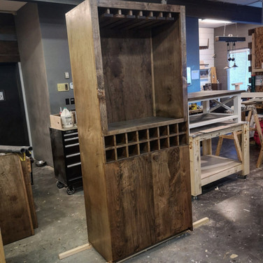 Maple Bespoke Bar Cabinet