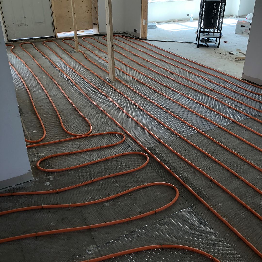 Main floor heating