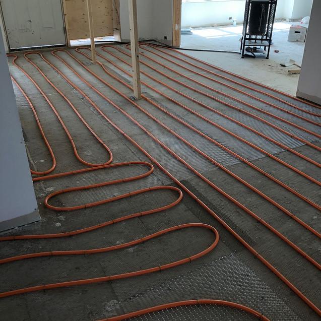 Main floor heating