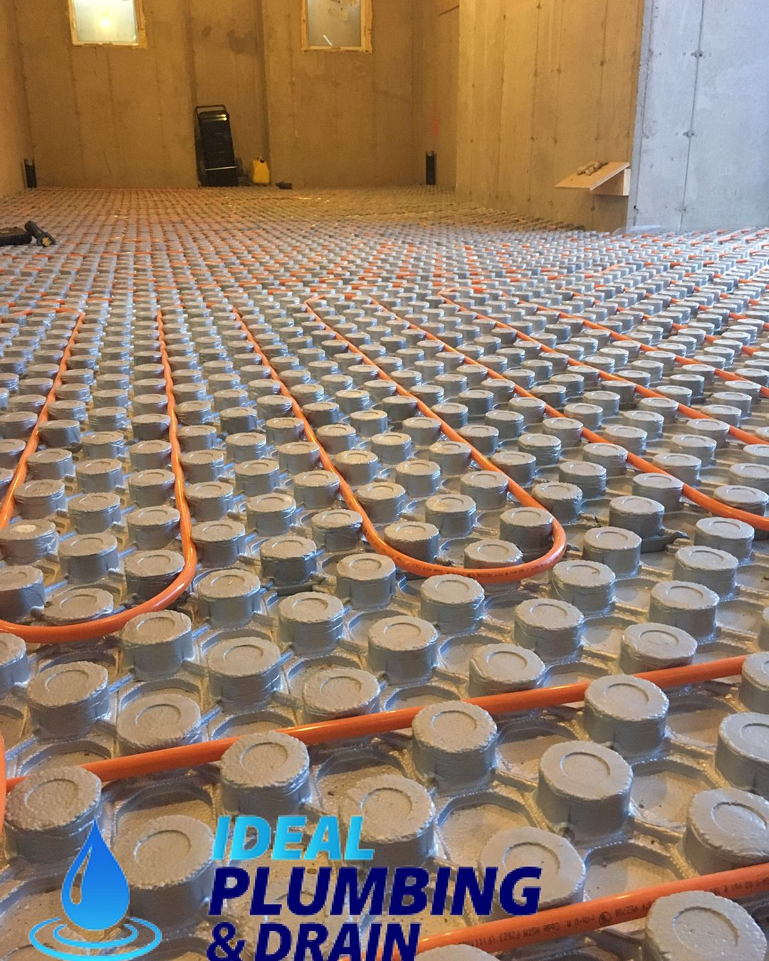 basement in floor heating