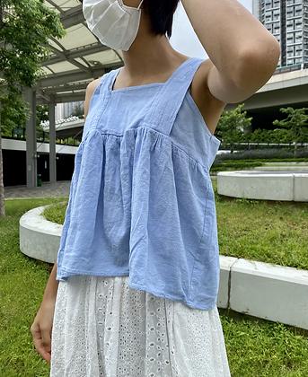 淺藍平口背心