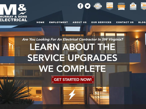 Murray and Sons Electrcial Web Design
