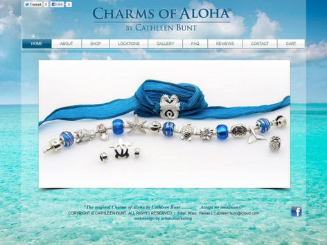 Charms of Aloha Web Design