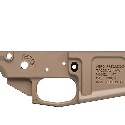 AERO M5 (.308) Stripped Lower - FDE Cerakote