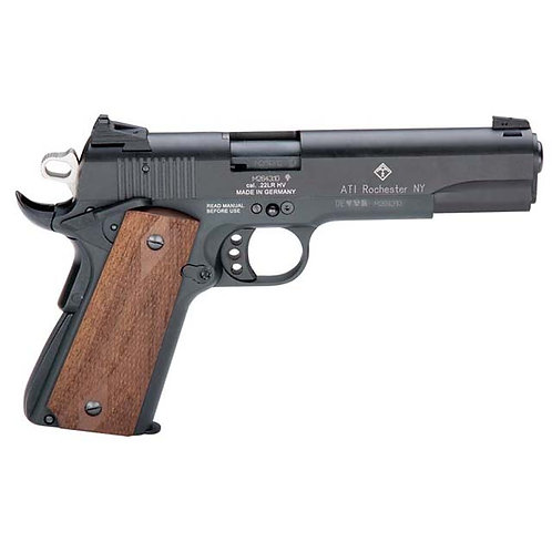 "GERMAN SPORT 1911 .22LR 5"" BLACK/FAUX WOOD GRIPS 10RD"