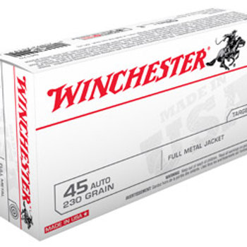 Winchester Ammunition, USA, 45ACP, 230 Grain, Full Metal Jacket, 50 Round Box