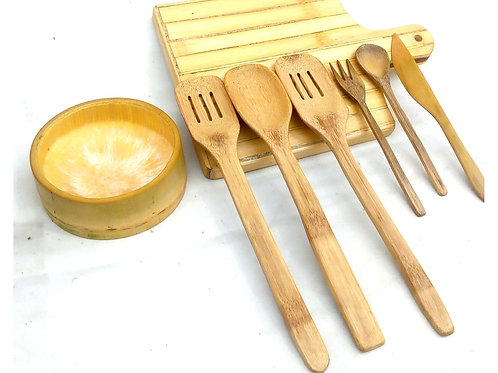 Elegance Bamboo Cutlery Set