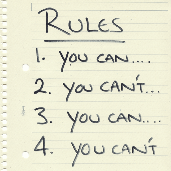 Creating habits or bound up in rules?
