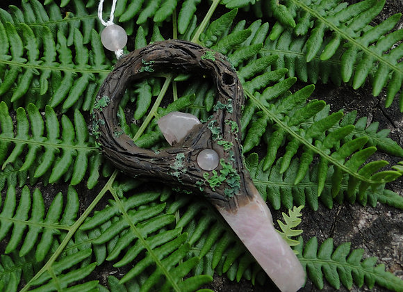 Forest & Rose Quartz Pendant