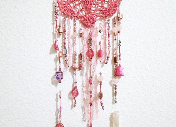 Bubblegum Rose Quartz Wall Hanging