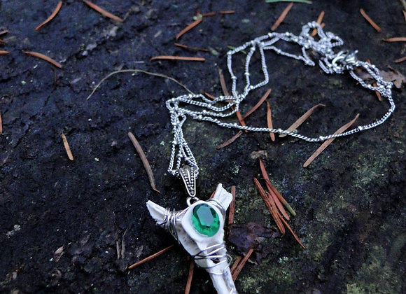 Emerald Spine Pendant Necklace