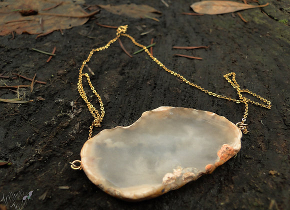 Agate Slice Necklace *CLEARANCE*