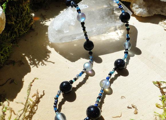 Blue Sandstone Beaded Choker