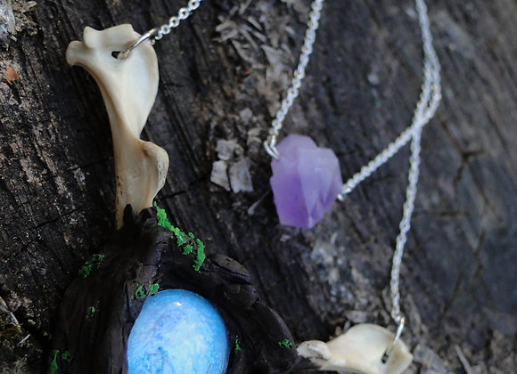 Forest and Bone Necklace