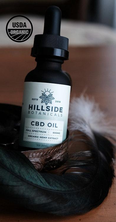 600mg Full Spectrum Organic CBD Oil