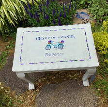 Bicycle and Lavender Table