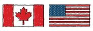 Canadian & USA flag