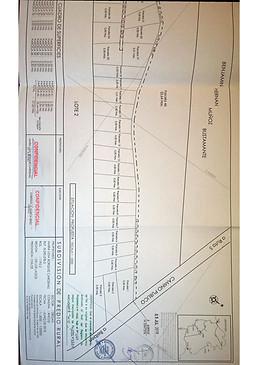 Plano subdivisión Parcelas Río Vilcún Chiloé