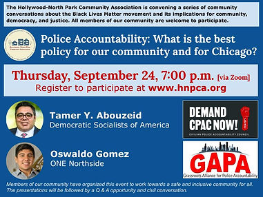 HNPCA Community Conversation on Police A
