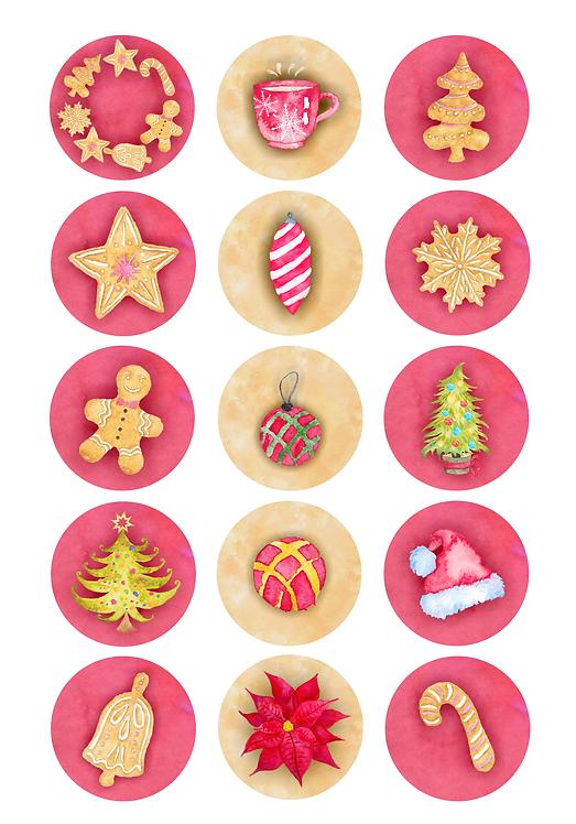 CÍRCULOS DE 5 CM | Christmas Cookies
