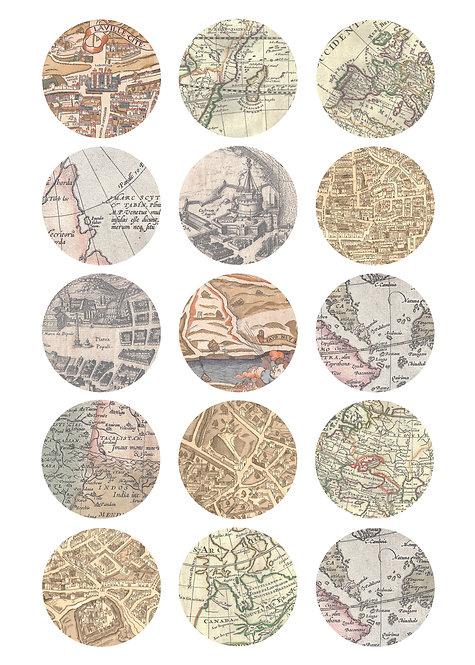 CÍRCULOS DE 5 CM   Mapas