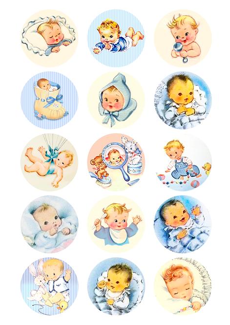 CÍRCULOS DE 5 CM | Baby Boy Vintage