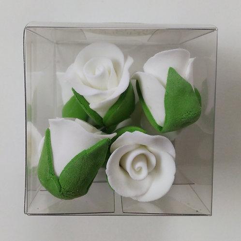 FLORES EM AÇÚCAR | Rosas Brancas | 8 Unidades | VALIDADE MAIO 2020