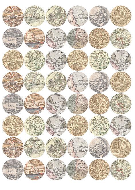 CÍRCULOS DE 3 CM   Mapas