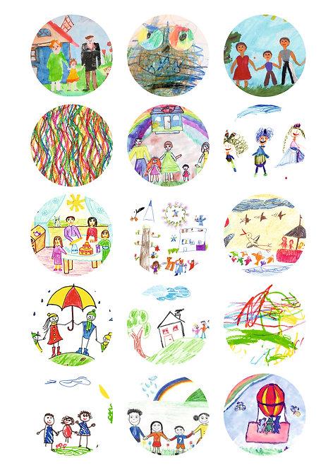CÍRCULOS DE 5 CM | Desenhos Crianças