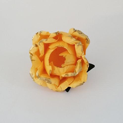 ARGOLA DE GUARDANAPO   Amarelo com Dourado