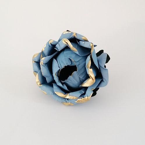 ARGOLA DE GUARDANAPO | Azul com Dourado