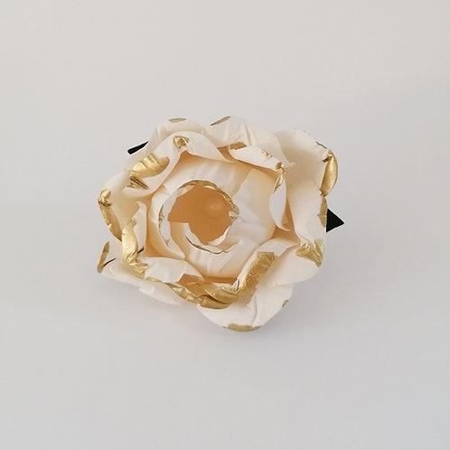 ARGOLA DE GUARDANAPO | Marfim com Dourado