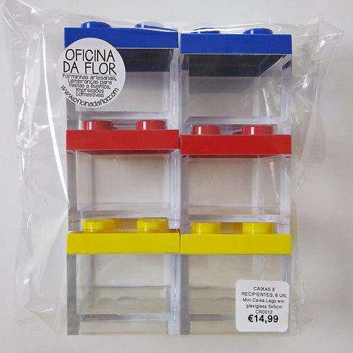 6 X MINI CAIXA LEGO EM PLEXIGLASS