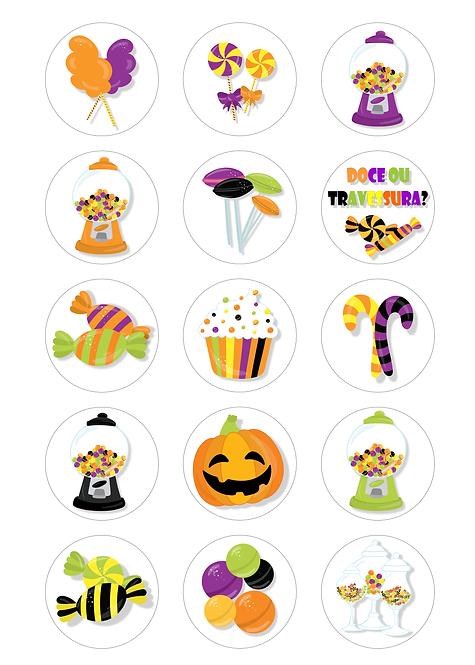 CÍRCULOS DE 5 CM | Halloween | Modelo 3