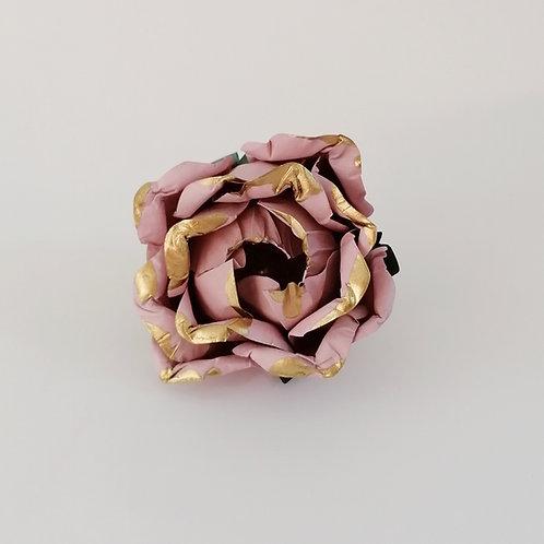 ARGOLA DE GUARDANAPO | Rosa Velho com Dourado