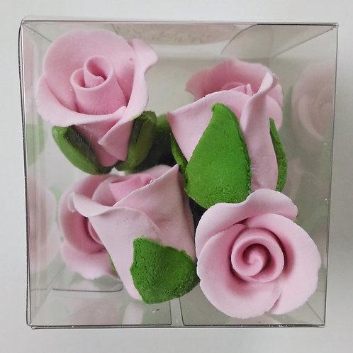 FLORES EM AÇÚCAR | Rosas Cor de Rosa | 8 Unidades | VALIDADE MAIO 2020