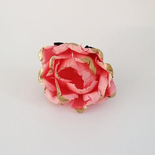 ARGOLA DE GUARDANAPO | Cor de Rosa com Dourado