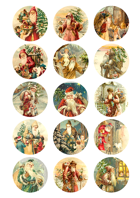 CÍRCULOS DE 5 CM | Vintage Christmas